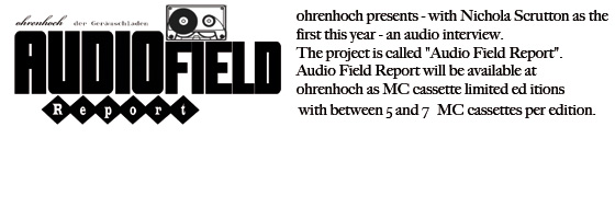 AUDIOFIELDREPORT